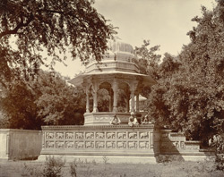 [View of a chhatri, probably in the Sar Bagh, Bundi.]